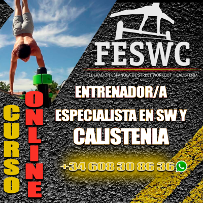 CURSO ONLINE Entrenador Especialista en SW y Calistenia